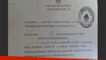 Inés compartió en Facebook una foto de la resolución judicial (Foto: Web).