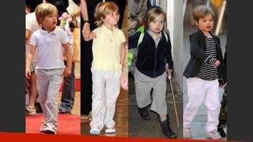 Los distintos looks de Shiloh con el correr de los años. (Fotos: Web)