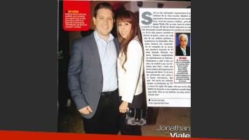 Jonatan Viale y Micaela, su bella futura esposa. (Foto: Movilpress / revista Paparazzi)