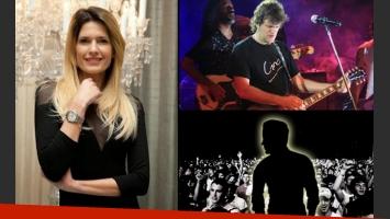 Isabel Macedo, a los mimos y de la manito en el recital de Ciro (Fotos: Web).