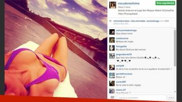 Silvina Escudero y una selfie ultra hot. (Foto: Instagram)