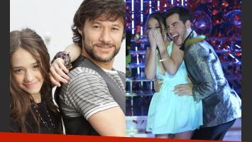 Diego Torres, feliz por el triunfo de su sobrina, Angela, en Tu cara me suena (Fotos: Web y Telefe).