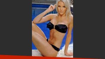 Alexandra Larsson presentó nuevas curvas. (Foto: revista Gente)