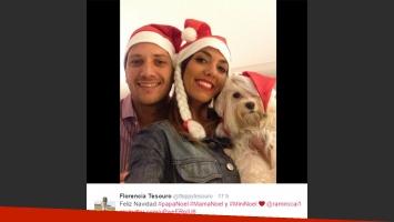 Floppy Tesouro y Ramiro: brindis y declaraciones románticas (Foto: Twitter)