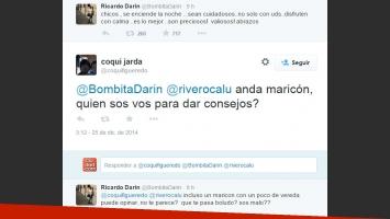 El extraño tweet de Darin y la respuesta de un seguidor (Foto: Twitter)