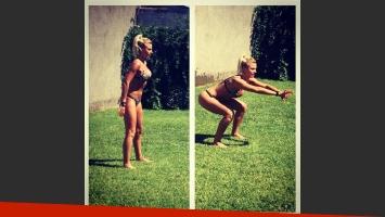 Ailén Bechara, la sexy azafata de A todo o nada, mostró su clase de sentadillas en bikini (Foto: Instagram)