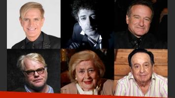 Los famosos que nos dejaron en 2014. (Imagen: web)
