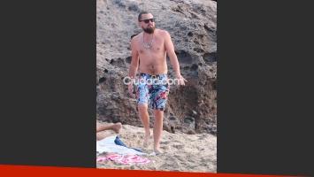 Leonardo DiCaprio disfrutó de las playas de St. Barts (Fotos: GrosbyGroup).