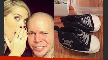 El detalle rockero de las zapatillas de Milo, el hijo de René Pérez y Soledad Fandiño. (Foto: Instagram)