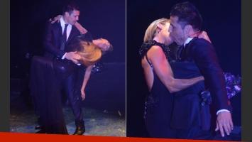 Iliana Calabró y Maravilla Martínez, seducción y beso apasionado en el escenario (Foto: Rocío Zuviarrain)