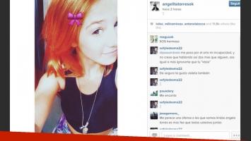Angela Torres ahora es pelirroja: ¿te gusta su nuevo look? (Foto: Captura).
