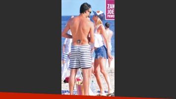 Sofía Zámolo y su novio Joe en Punta del Este. (Foto: revista Caras)
