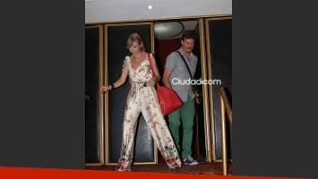 Inés Estévez debutó en el Tabarís y Javier Malosetti la fue a ver (Foto: Movilpress)