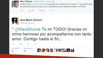 El pícaro tweet de Maxi Ghione a Ana María Orozco (Foto: Twitter)