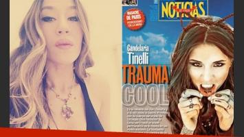 Jimena Barón apoyó a su amiga Cande Tinelli tras la tapa de Noticias (Foto: Twitter y Noticias)