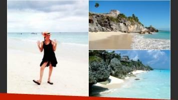 Finalizado ShowMatch 2014, la jurado disfruta de sus vacaciones en México. (Foto: Twitter)
