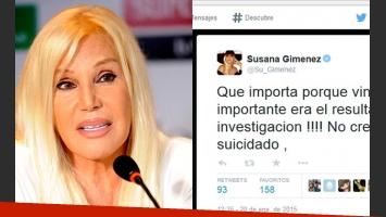 Susana Giménez habló del caso Nisman. (Fotos: Web y Twitter)