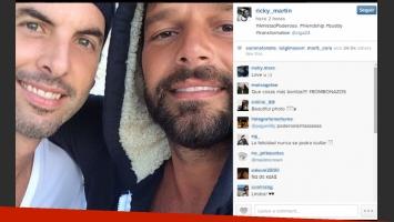 La foto de Ricky Martin y su ex pareja. (Foto: Instagram)