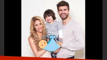 Shakira, Gerard Piqué y el pequeño Milan reciben al nuevo bebé. (Foto: web)