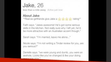 El curriculum del amor de Jake Chapman. (Fotos: Web)