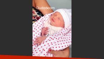 La recién nacida, Indiana, una hermosura (Fotos: Movilpress).