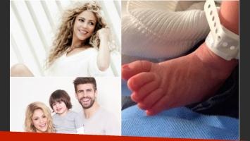 Shakira compartió con sus fans la primera foto de Sasha: su pequeño pie. (Foto: Twitter)