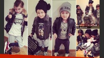 Los hijos de Wanda Nara sorprendieron como pequeños modelos. (Foto: Instagram)