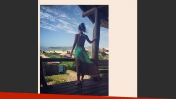 Luli Fernández, de vacaciones con su marido en un paraíso brasileño sustentable. (Foto: Twitter)