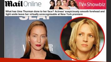 El drástico cambio de Uma Thurman (Fuente: DailyMail.co.uk)