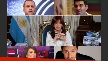 La reacción de Rial, Iúdica, Ursula Vargues, Tognetti y otros famosos, en Twitter. (Fotos: Web)