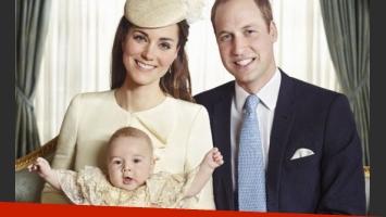 Kate Middleton, el Principe William y el pequeño George. (Fuente: web)