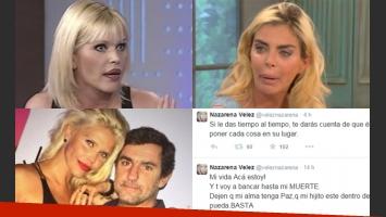 Nazarena Vélez, dolida por las declaraciones de Mancini (Fotos: Web).