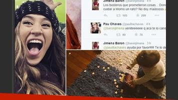 La divertida desesperación de Jimena Barón en Twitter por su hijo. (Fotos: Twitter)