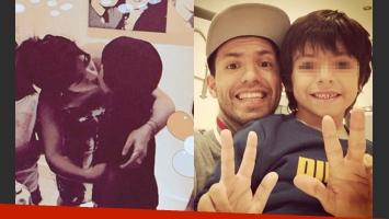 Benjamín Agüero cumplió años y sus papis festejaron en Twitter (Fotos: Twitter).