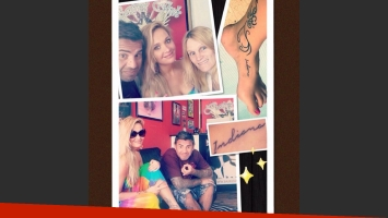 Melina Pitra se tatuó el nombre de su hija Indiana. (Foto: Instagram)
