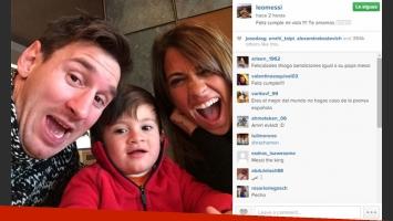 Lionel Messi y su tierno saludo de cumpleaños para Antonella Roccuzzo. (Foto: Instagram)