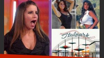 El blooper de la adolescencia de Flor Peña: se quedó en lolas en el samba del Italpark. (Foto: Web)