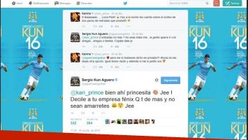 Los tweets entre Karina y el Kun.