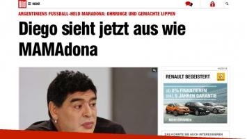 Diego Maradona en los diarios del mundo. (Foto: Twitter)