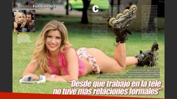Laurita Fernández, una diosa que no se pone de novia. (Foto: revista Paparazzi)