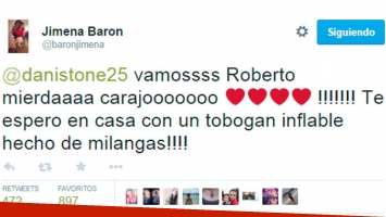 Los tuits de Jimena Barón. (Foto: Twitter)