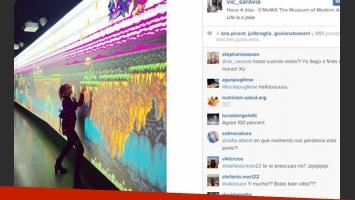 Vitto Saravia y sus días de relax en Nueva York (Fotos: Instagram).