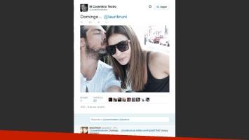 La romántica foto de Marcelo Cosentino y Laura Bruni. (Foto: Twitter)