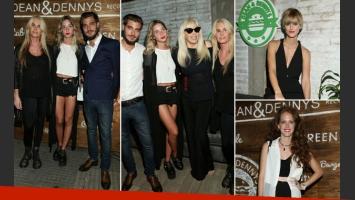 Susana Giménez con su familia y famosos, en la apertura de Dean & Dennys (Foto: Grupo Mass+)