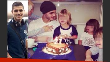 Mauro Icardi  habló de su relación con los hijos de Wanda Nara y Maxi López. (Fotos: Web)