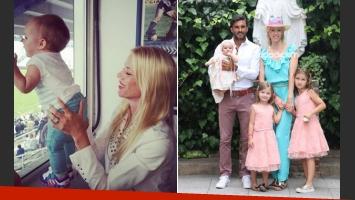 Nicole Neumann llevó por primera vez a su hija Sienna a ver su papá en la cancha (Foto: Instagram y Ciudad.com)