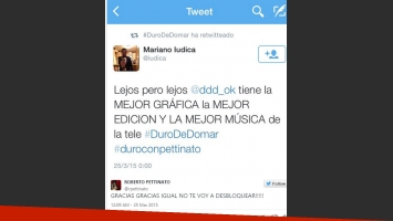 Mariano Iúdica elogió Duro de Domar pero Petti le respondió con ironía (Fotos: Captura).