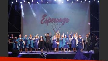 La presentación de Esperanza Mía en La Plata. (Foto: Prensa El Trece)