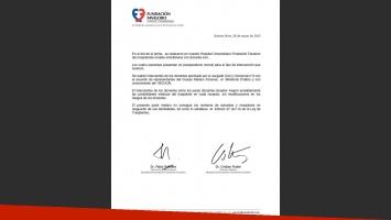 El parte médico de la Fundación Favaloro. (Foto: Twitter)