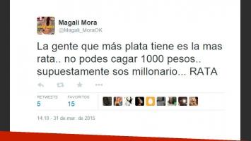 Magalí Mora trató de rata a Ariel Diwan (Foto: Twitter)